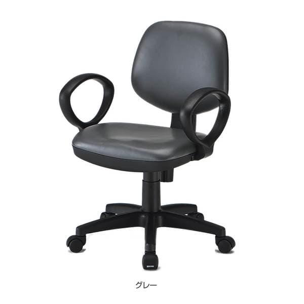 TOKIO FST-51オフィスチェア 肘付 レザー W565×D545×H790~915(SH440~565)mm FST-51AL [オフィスチェア 事務用チェア オフィス用品 オフィス用 オフィス家具 チェア 椅子 イス 事務椅子 デスクチェア パソコンチェア]