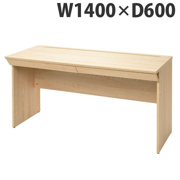 RFヤマカワ 木製デスク 引出付き ユピタシリーズ W1400XD600 ナチュラル