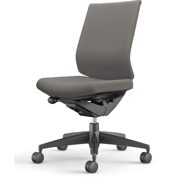 コクヨ(KOKUYO) オフィスチェア Wizard3(ウィザード3) ローバック ブラックシェル 樹脂脚(ブラック) 布張 肘なし ソフトグレー CR-G3620F6G4E3-W