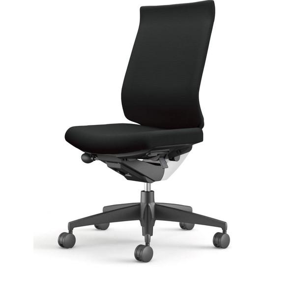 【受注生産品】コクヨ(KOKUYO) オフィスチェア Wizard3(ウィザード3) ハイバック ホワイトシェル 樹脂脚(ブラック) 布張 肘なし ブラック CR-G3622E1G4B6-W