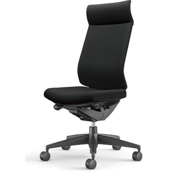 コクヨ(KOKUYO) オフィスチェア Wizard3(ウィザード3) ミドルマネージメント ブラックシェル 樹脂脚(ブラック) 布張 肘なし ブラック CR-G3624F6G4B6-W