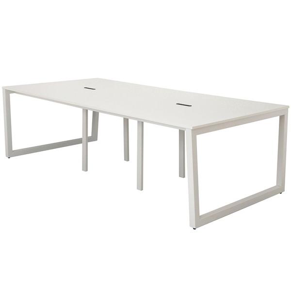 R・Fヤマカワ リスム フリーアドレス用テーブル W2400×D1200×H720mm ホワイト×ホワイト脚 RFFLT-2412WH-WL