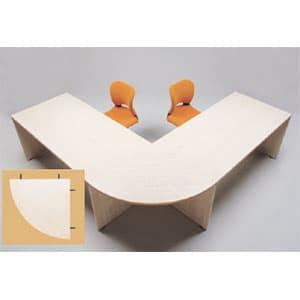 Garage fantoni デスクGL用 連結天板90度 GL-90RT 白木 [白色 ホワイト テーブル デスク デザインデスク 事務机 事務デスク 机 つくえ 事務用 オフィス家具 オフィス用 オフィス用品]