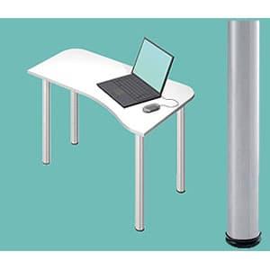 Garage パソコンデスク L型デスク D2 D2-H-ST 白 ホワイト [白色 デザインデスク PCテーブル PCデスク デスク 机 テーブル 事務デスク オフィスデスク ワークデスク パソコン用デスク オフィス用品 オフィス用 オフィス家具]