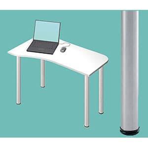 Garage パソコンデスク L型デスク D2 D2-I-ST 白 ホワイト [白色 デザインデスク PCテーブル PCデスク デスク 机 テーブル 事務デスク オフィスデスク ワークデスク パソコン用デスク オフィス用品 オフィス用 オフィス家具]