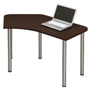 Garage パソコンデスク L型デスク D2 D2-B-ST マホガニー [デザインデスク PCテーブル PCデスク デスク 机 テーブル 事務デスク オフィスデスク ワークデスク パソコン用デスク オフィス用品 オフィス用 オフィス家具]