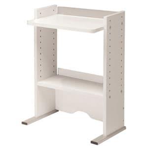 Garage 机上棚(卓上棚) CC-K4532白 [白色 ホワイト デスク デスク周り品 机上棚 デスク収納 デスクラック 収納家具 オフィス収納 オフィス家具 オフィス用 オフィス用品]