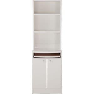 Garage カフェキャビネット 食器棚 セット KK-C1850 白 ホワイト [白色 ワゴン 収納家具 キャビネット オフィス家具 オフィス用 オフィス用品 オフィス収納]