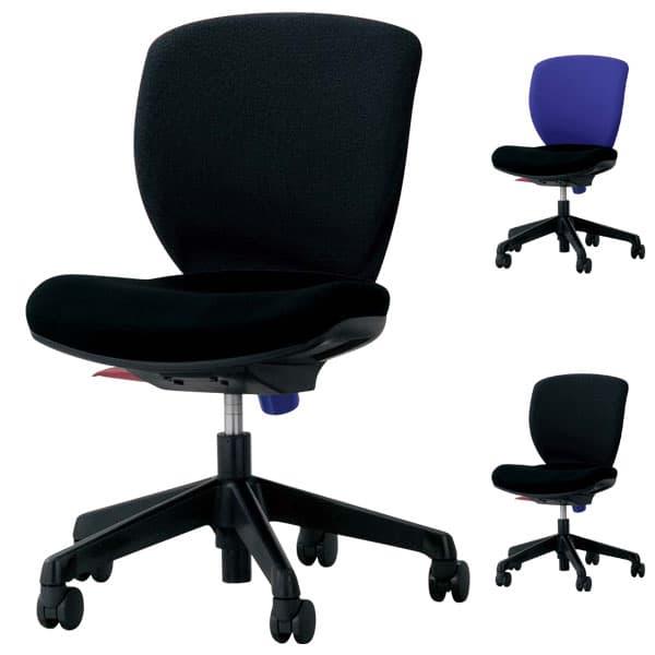 ライオン事務器 オフィスチェアー(シルフィード) W480×D536×H800~910(SH410~520)mm No.1270F [オフィスチェア 事務用チェア オフィス家具 チェア 椅子 イス 事務椅子 デスクチェア パソコンチェア 高機能]