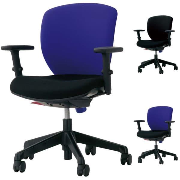ライオン事務器 オフィスチェアー(シルフィード) W620×D536×H800~910(SH410~520)mm No.1272F [オフィスチェア 事務用チェア オフィス家具 チェア 椅子 イス 事務椅子 デスクチェア パソコンチェア 高機能]