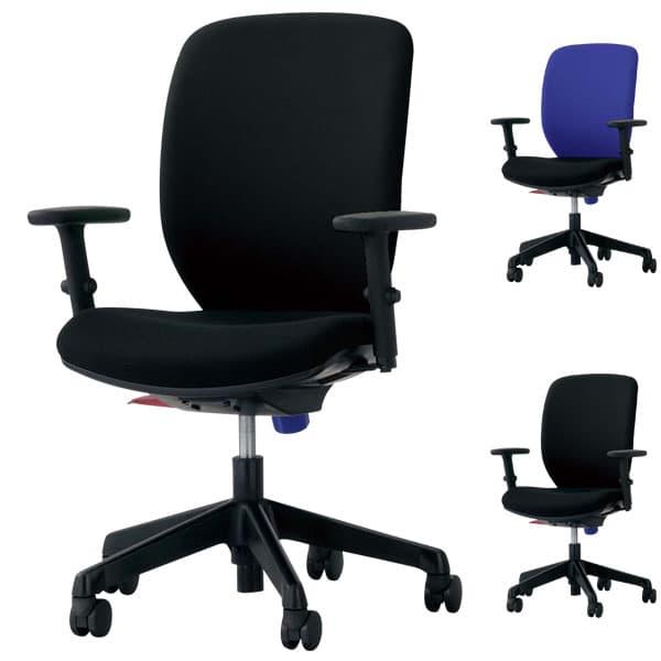 ライオン事務器 オフィスチェアー(シルフィード) W620×D546×H895~1005(SH410~520)mm No.1277F [オフィスチェア 事務用チェア オフィス家具 チェア 椅子 イス 事務椅子 デスクチェア パソコンチェア 高機能]