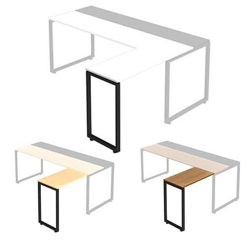 Garage NS L型連結天板 メラミン仕様 NS-047LM [テーブル デスク デザインデスク 事務机 事務デスク 机 つくえ 事務用 オフィス家具 オフィス用 オフィス用品]
