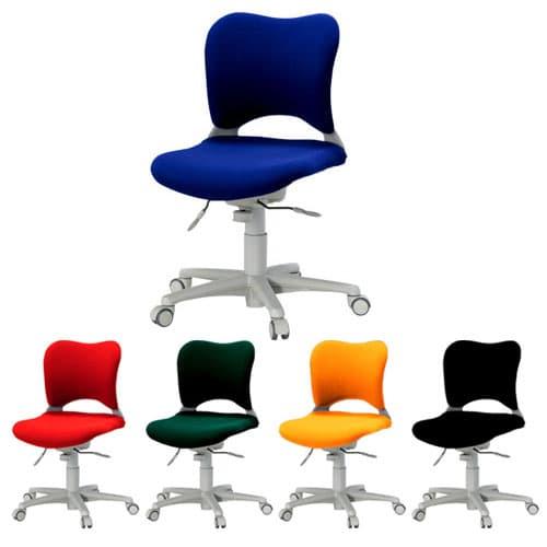 Garage パソコンチェア OC (PLUS オーバルチェア) ローバック 前傾ポジション 肘なし OC-Z06SLU [オフィスチェア 事務用チェア オフィス家具 チェア 椅子 イス 事務椅子 デスクチェア パソコンチェア 高機能]