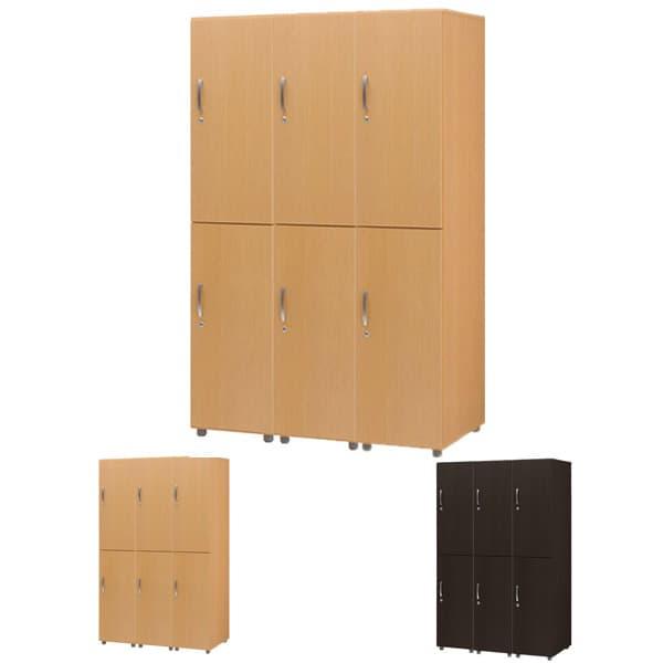 木製ロッカー 6人用 FJLW [ロッカー 本棚 収納家具 オフィス用品 オフィス用 オフィス家具 オフィス収納 会社 企業向け 施設用 木製 ハイテクウッド]