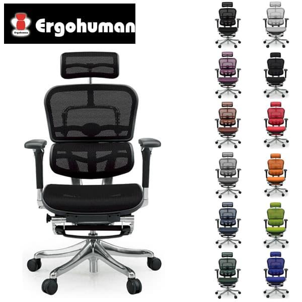 エルゴヒューマン プロ オットマン EHP-LPL [オフィスチェア 高機能チェア メッシュチェア メッシュバック オフィス家具 チェア 椅子 いす OAチェア デスクチェア]欠品 グリーン・ブルー・ホワイト 8月下旬頃入荷予定3Dブルー 9月下旬頃入荷予定