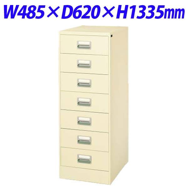 ライオン事務器 カードキャビネット W485×D620×H1335mm アイボリー B6-27N 452-35 [ワゴン 収納家具 オフィス家具 オフィス用 オフィス用品 オフィス収納]