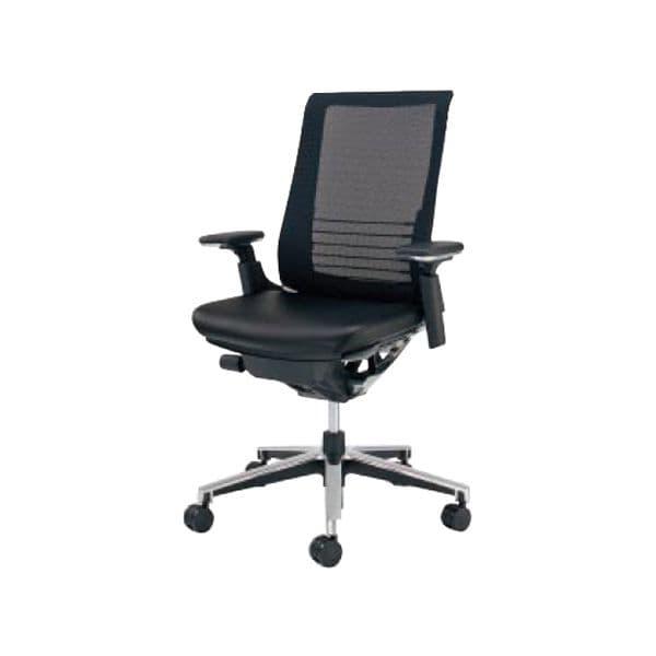 コクヨ(KOKUYO) エグゼクティブチェア オフィスチェアINSPINE(インスパイン) ナイロンキャスターCR-GA2513E6L7E6-W [事務用チェア オフィス家具 チェア 椅子 イス 事務椅子 デスクチェア パソコンチェア 革張り 高機能 INSPINE インスパイン]