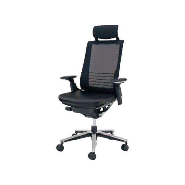 コクヨ(KOKUYO) エグゼクティブチェア オフィスチェアINSPINE(インスパイン)ナイロンキャスターCR-GA2515E6L7E6-W [事務用チェア オフィス家具 チェア 椅子 イス 事務椅子 デスクチェア パソコンチェア 革張り 高機能 INSPINE インスパイン]