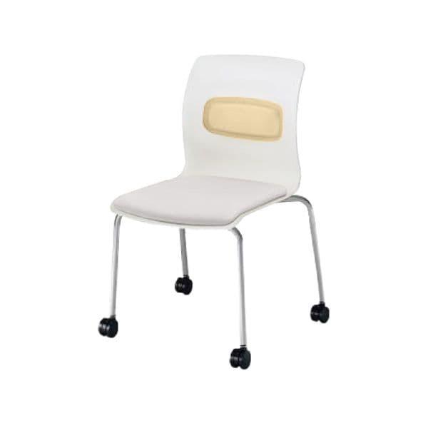 コクヨ(KOKUYO) ミーティングチェア pictis(ピクティス) CK-770CVR01-W [会議イス 学校 体育館 公民館 チェア いす 椅子 集会場 業務用 会議用椅子 会議椅子 会議室 オフィス家具 オフィス用 オフィス用品 スタッキングチェア]