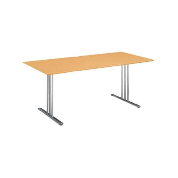 コクヨ(KOKUYO) ミーティングテーブル 長方形 ATTESA(アテーザ) W1800×D800×H700mm LT-212YP16N [会議用テーブル 会議テーブル 会議用デスク 会議デスク 休憩室 食堂 オフィス用 会議室 ワーキングテーブル 作業テーブル 作業机 テーブル]