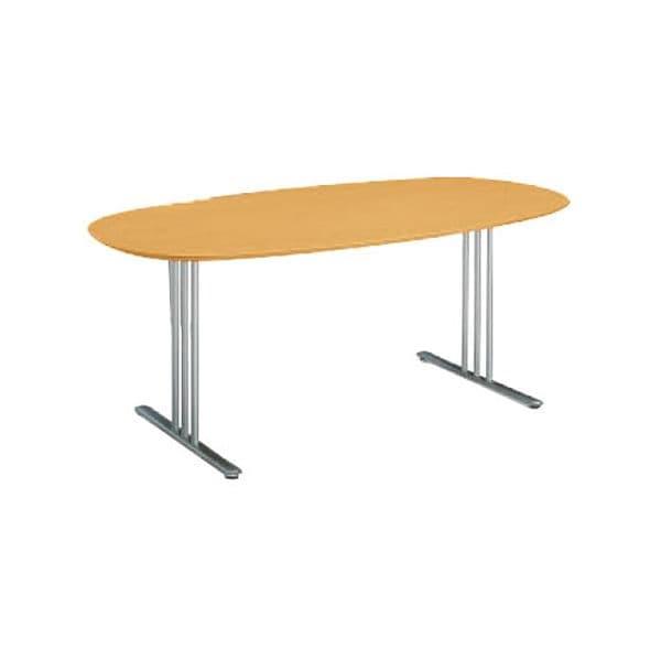 コクヨ(KOKUYO) ミーティングテーブル 楕円形 ATTESA(アテーザ) W1800×D900×H700mm LT-217YP16N [会議用テーブル 会議テーブル 会議用デスク 会議デスク 休憩室 食堂 オフィス用 会議室 ワーキングテーブル 作業テーブル 作業机 テーブル]
