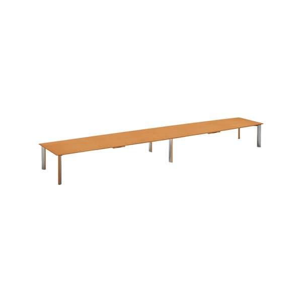 コクヨ(KOKUYO) 舟形テーブル WT-150シリーズ W4800×D1200×H700mm WT-W159W03N【別途 組立費必須】 [ワーキングテーブル ワークテーブル テーブル ミーティングテーブル 舟形 オフィス家具 会議テーブル 会議用テーブル 会議机 オフィステーブル]