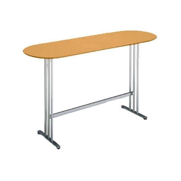 コクヨ(KOKUYO) ミーティングテーブル 楕円形 ATTESA(アテーザ) W1800×D600×H1000mm LT-204YKN [会議用テーブル 会議テーブル 会議用デスク 会議デスク 休憩室 食堂 オフィス用 会議室 ワーキングテーブル 作業テーブル 作業机 テーブル]