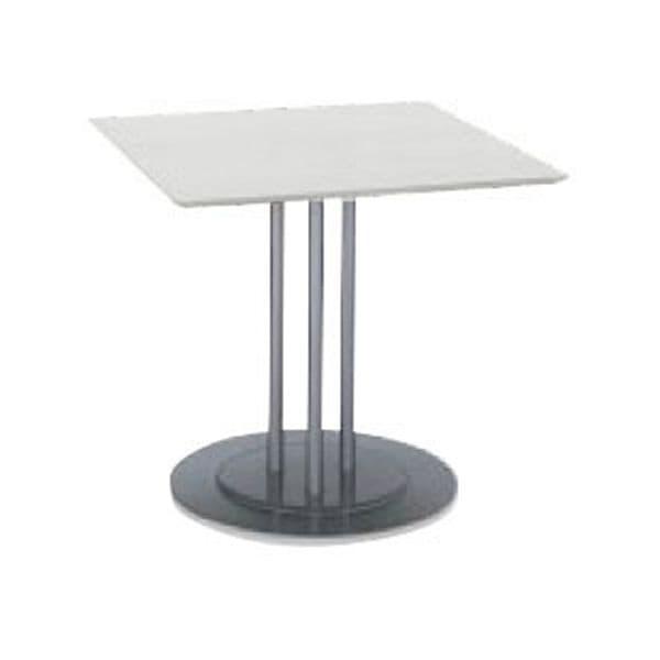 コクヨ(KOKUYO) ミーティングテーブル 正方形 ATTESA(アテーザ) W800×D800×H700mm LT-214YSWN [会議用テーブル 会議テーブル 会議用デスク 会議デスク 休憩室 食堂 オフィス用 会議室 ワーキングテーブル 作業テーブル 作業机 テーブル]