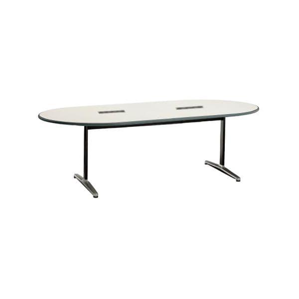 コクヨ(KOKUYO) 楕円形テーブル MT-110シリーズ W2000×D1000×H700mm MT-114WF1N [ワーキングテーブル ワークテーブル テーブル ミーティングテーブル 楕円形 オフィス家具 会議テーブル 会議用テーブル 会議机]