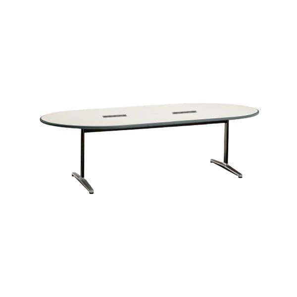 コクヨ(KOKUYO) 楕円形テーブル MT-110シリーズ W2400×D1200×H700mm MT-115WF1N [ワーキングテーブル ワークテーブル テーブル ミーティングテーブル 楕円形 オフィス家具 会議テーブル 会議用テーブル 会議机]
