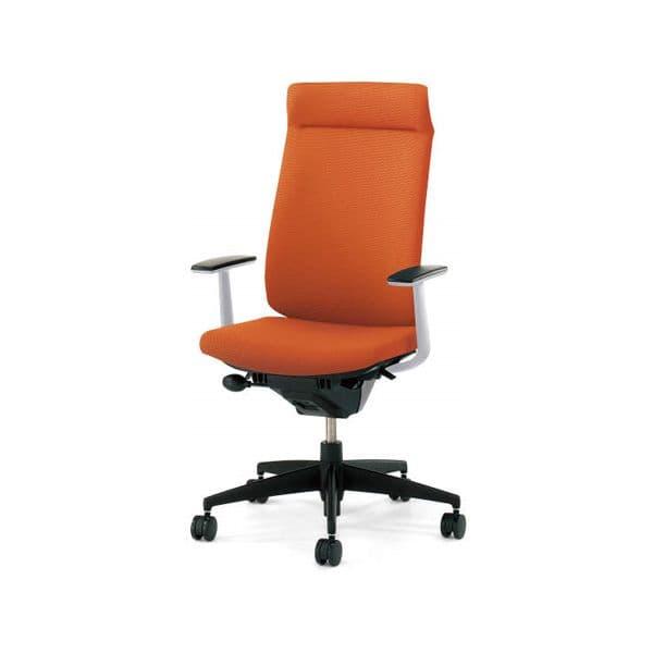 コクヨ(KOKUYO) オフィスチェア Wizard2(ウィザード2)布張 ミドルマネージメント ホワイトシェル 樹脂タイプT型肘(固定肘) ナイロンキャスターCR-G1825E1G4 [事務用チェア オフィス家具 チェア 椅子 イス 事務椅子 デスクチェア パソコンチェア 高機能]