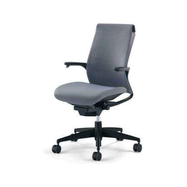 コクヨ(KOKUYO) オフィスチェア M4(エムフォー)ハイバック 固定肘 ブラックシェル 樹脂脚 ナイロンキャスター CR-G2201F6B-W[ いす 事務用チェア チェア 椅子 イス 事務椅子 デスクチェア パソコンチェア スタンダード 高機能 ]
