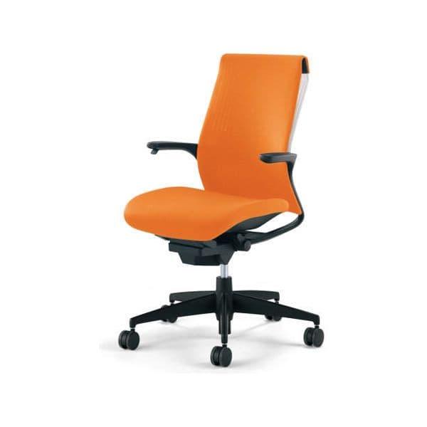 コクヨ(KOKUYO) オフィスチェア M4(エムフォー)ハイバック 固定肘 ホワイトシェル 樹脂脚 ポリウレタン巻キャスター CR-G2201F6-VN[ いす 事務用チェア チェア 椅子 イス 事務椅子 デスクチェア パソコンチェア スタンダード 高機能 ]