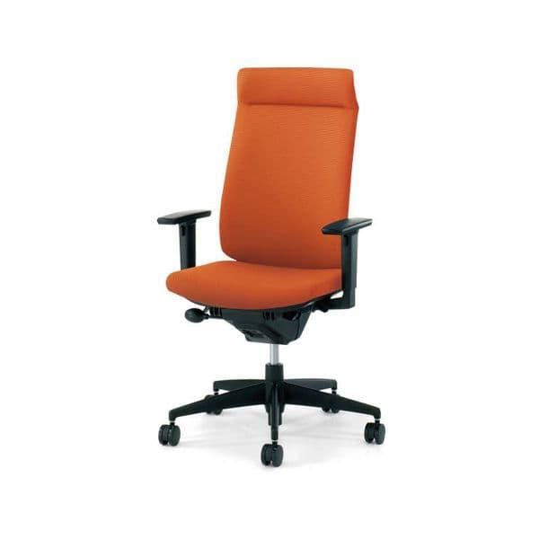 コクヨ(KOKUYO) オフィスチェア Wizard2(ウィザード2)布張 ミドルマネージメント ブラックシェル 樹脂タイプ可動肘 ナイロンキャスターCR-G1835F6G4 [事務用チェア オフィス家具 チェア 椅子 イス 事務椅子 デスクチェア パソコンチェア 高機能]