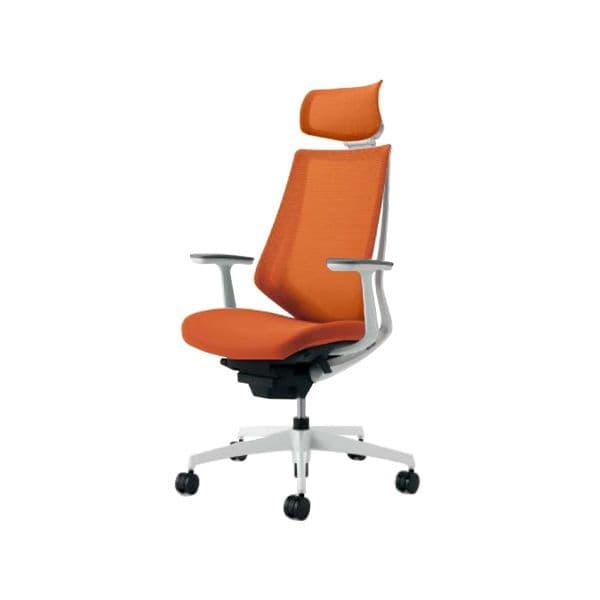 コクヨ(KOKUYO) オフィスチェア CR-GW3005E1-W 椅子 DUORA オフィス家具 チェア イス パソコンチェア デュオラ] [事務用チェア 事務椅子 ナイロンキャスター 高機能 スタンダード Duora(デュオラ) デスクチェア エクストラハイバック