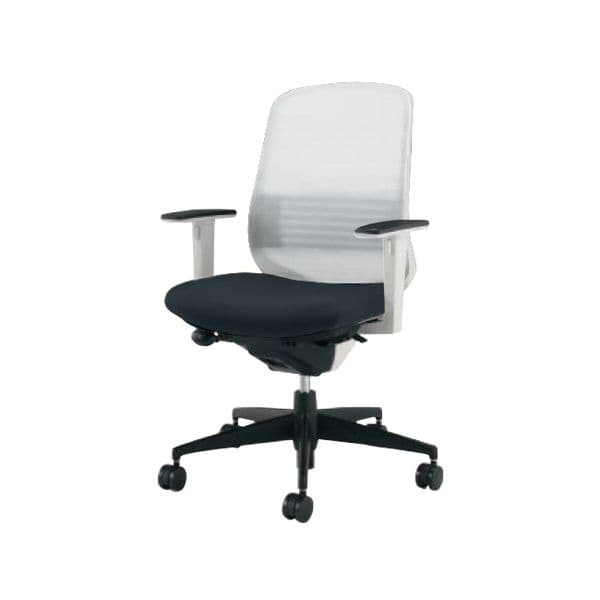コクヨ(KOKUYO) オフィスチェア ミドルバック Scirocco(シロッコ) CR-G2633E1C-V [事務用チェア オフィス用品 オフィス用 オフィス家具 チェア 椅子 イス 事務椅子 デスクチェア パソコンチェア スタンダード 高機能 SCIROCCO シロッコ]