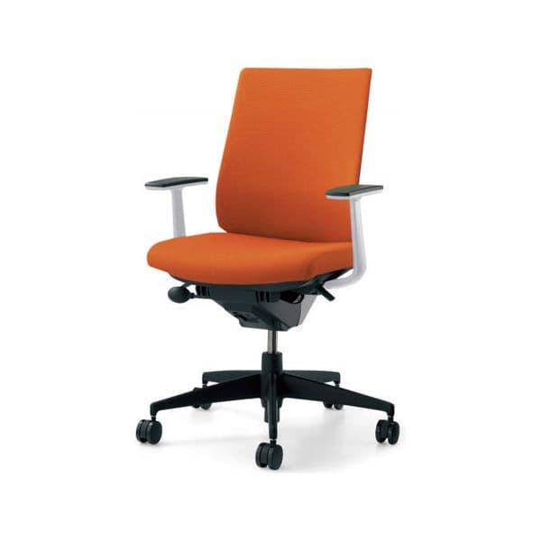 コクヨ(KOKUYO) オフィスチェア Wizard2(ウィザード2)布張 ハイバック ホワイトシェル 樹脂タイプT型肘(固定肘) ナイロンキャスターCR-G1823E1G4 [事務用チェア オフィス家具 チェア 椅子 イス 事務椅子 デスクチェア パソコンチェア 高機能]