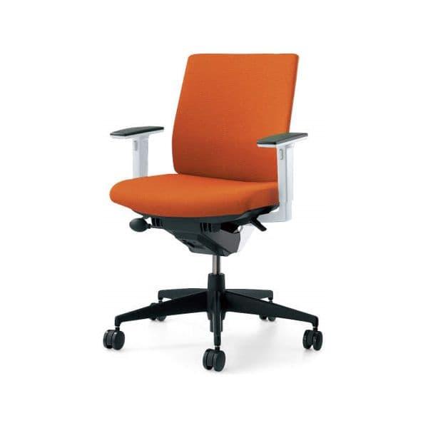 コクヨ(KOKUYO) オフィスチェア Wizard2(ウィザード2)布張 ローバック ホワイトシェル 樹脂タイプ可動肘 ナイロンキャスターCR-G1831E1G4 [事務用チェア オフィス家具 チェア 椅子 イス 事務椅子 デスクチェア パソコンチェア 高機能]