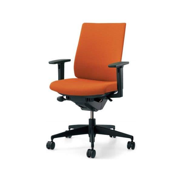 コクヨ(KOKUYO) オフィスチェア Wizard2(ウィザード2)布張 ハイバック ブラックシェル 樹脂タイプ可動肘 ナイロンキャスターCR-G1833F6G4 [事務用チェア オフィス家具 チェア 椅子 イス 事務椅子 デスクチェア パソコンチェア 高機能]