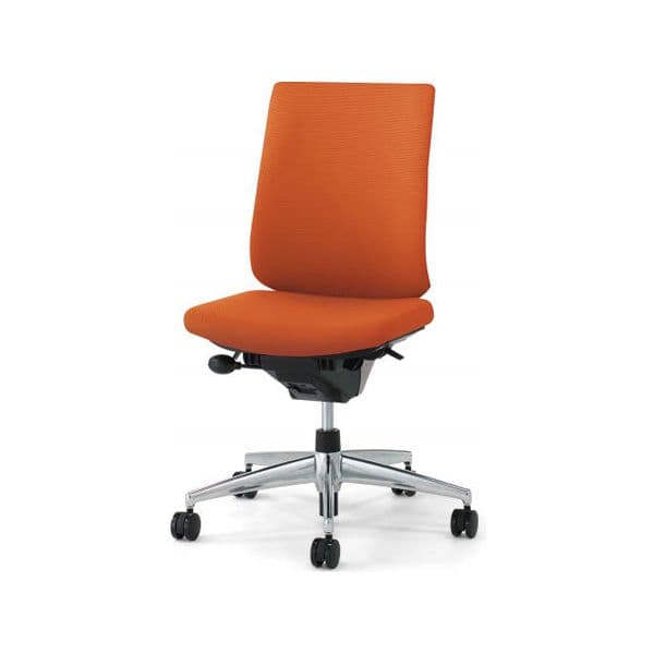 コクヨ(KOKUYO) オフィスチェア Wizard2(ウィザード2)布張 ハイバック ブラックシェルアルミポリッシュタイプ 肘無 ナイロンキャスターCR-GA1822F6 [事務用チェア オフィス家具 チェア 椅子 イス 事務椅子 デスクチェア パソコンチェア 高機能]