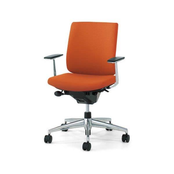 コクヨ(KOKUYO) オフィスチェア Wizard2(ウィザード2)布張 ローバック ホワイトシェルアルミポリッシュタイプ 可動肘 ナイロンキャスターCR-GA1861E1 [事務用チェア オフィス家具 チェア 椅子 イス 事務椅子 デスクチェア パソコンチェア 高機能]