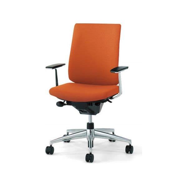 コクヨ(KOKUYO) オフィスチェア Wizard2(ウィザード2)布張 ハイバック ホワイトシェルアルミポリッシュタイプ 可動肘 ナイロンキャスターCR-GA1863E1 [事務用チェア オフィス家具 チェア 椅子 イス 事務椅子 デスクチェア パソコンチェア 高機能]
