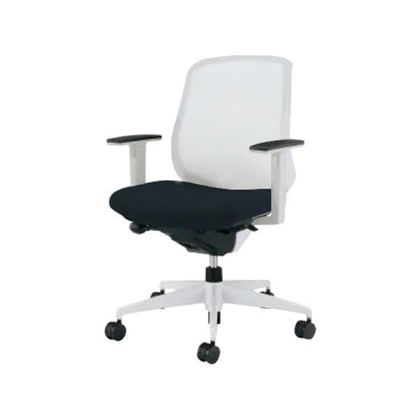 コクヨ(KOKUYO) オフィスチェア ミドルバック Scirocco(シロッコ) CR-GW2611E1C-W [事務用チェア オフィス家具 チェア 椅子 イス 事務椅子 デスクチェア パソコンチェア スタンダード 高機能 SCIROCCO シロッコ]
