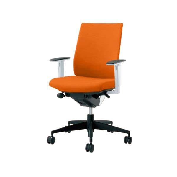 コクヨ(KOKUYO) オフィスチェア Wizard2(ウィザード2)布張 ハイバック ホワイトシェル 樹脂タイプ可動肘 ポリウレタン巻キャスターCR-G1833E1 [事務用チェア オフィス家具 チェア 椅子 イス 事務椅子 デスクチェア パソコンチェア 高機能]