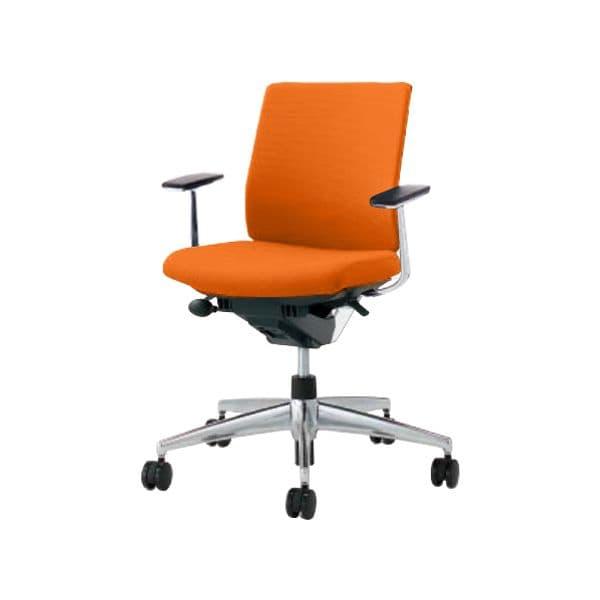 コクヨ(KOKUYO) オフィスチェア Wizard2(ウィザード2)布張 ローバック ホワイトシェルアルミポリッシュタイプ 可動肘ポリウレタン巻キャスター CR-GA1861E1 [事務用チェア オフィス家具 チェア 椅子 イス 事務椅子 デスクチェア パソコンチェア 高機能]