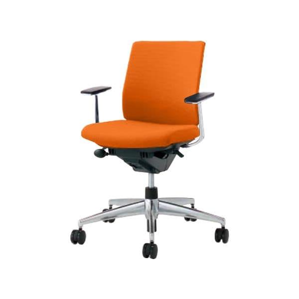 コクヨ(KOKUYO) オフィスチェア Wizard2(ウィザード2)布張 ローバック ブラックシェルアルミポリッシュタイプ 可動肘ポリウレタン巻キャスター CR-GA1861F6 [事務用チェア オフィス家具 チェア 椅子 イス 事務椅子 デスクチェア パソコンチェア 高機能]