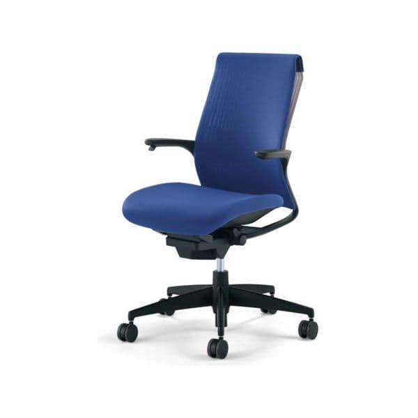 コクヨ(KOKUYO) オフィスチェア M4(エムフォー)ハイバック 固定肘 ブラックシェル アルミポリッシュ脚 ポリウレタン巻キャスター CR-GA2201F6B-V[ いす 事務用チェア チェア 椅子 イス 事務椅子 デスクチェア パソコンチェア スタンダード 高機能 ]