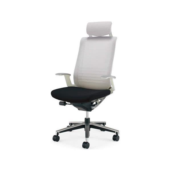 コクヨ(KOKUYO) オフィスチェアエクストラハイバック INSPINE(インスパイン)ナイロンキャスター CR-GA2505E1-W [事務用チェア オフィス家具 チェア 椅子 イス 事務椅子 デスクチェア パソコンチェア 高機能 INSPINE インスパイン]