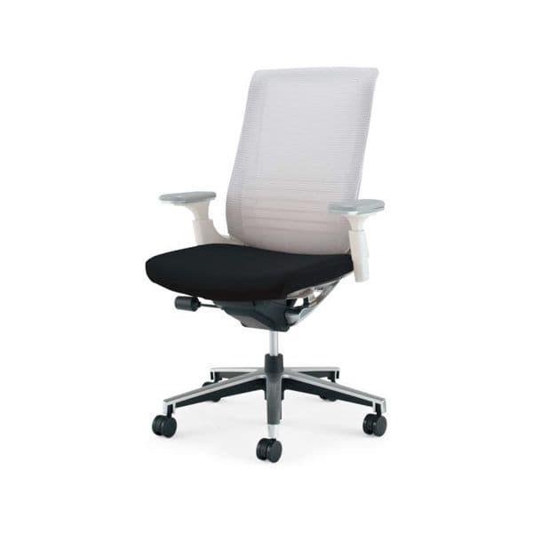 コクヨ(KOKUYO) オフィスチェアハイバック INSPINE(インスパイン) ナイロンキャスターCR-GA2513E1-W [事務用チェア オフィス家具 チェア 椅子 イス 事務椅子 デスクチェア パソコンチェア 高機能 INSPINE インスパイン]