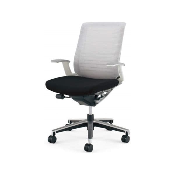 コクヨ(KOKUYO) オフィスチェアローバック INSPINE(インスパイン) ナイロンキャスターCR-GA2501E1-W [事務用チェア オフィス家具 チェア 椅子 イス 事務椅子 デスクチェア パソコンチェア 高機能 INSPINE インスパイン]